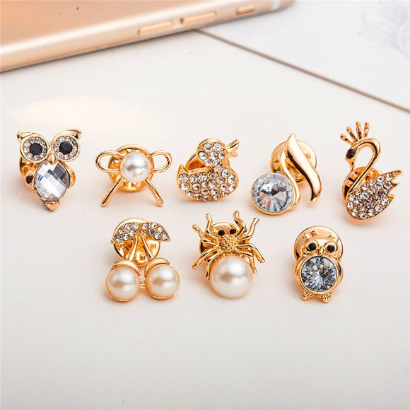2018 Korean version of the jewelry Owl swan cherry brooches brain eyes tooth brooch accessories wholesale Pin Badges for Women