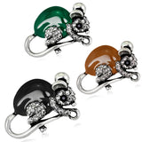 Ajojewel Trendy Enamel Green/Brown/Black Mouse Brooch Collar Pins Corsage Insect Accessories Jewelry For Women And Kids