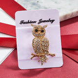 SHUANGR Fashion Bird Insect Flower Brooches Crystal Animal Cat Dragonfly Collar Suit Banquet Decoration Brooch Pins jewelry Gift