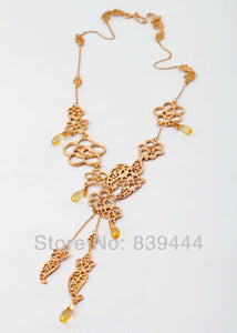 China Gold Jewelry Cute Popular Autumn Yellow Necklace