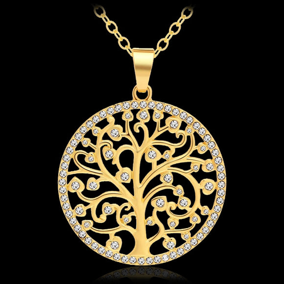 New Tree Of Life Pendant Necklace for Women Autumn and winter sweater necklace Jewelry
