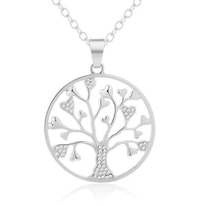 Vintage fashion Tree Of Life Pendant Necklace for Women Autumn/winter sweater necklace Lucky Jewelry Gift
