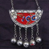 hot sell new - Miao silver embroidery folk style necklace twelve zodiac jewelry festive ornaments vintage old embroidered sweate