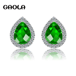 Fashion Top Jewelry Filled CZ  Studded shiny Stud Earrings for Women/Girl GLE3646