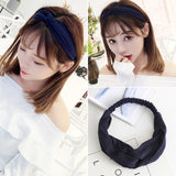 Bohemian style for Women Headband fashion prints Cross Knot Elastic Hair Bands Soft Solid  Girls Hairband Hair Accessories