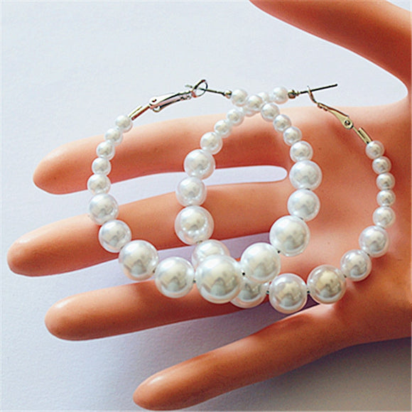 New fashion women jewelry wholesale girl birthday party pearl earrings beautiful Christmas earrings gift free shipping