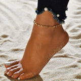 LETAPI 2020 New Gold Color Sequins Anklet For Women Beach Foot jewelry Vintage Statement Anklets Boho Style Party Summer Jewelry