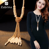 European style fashion collocation of shiny string beads necklace high-grade crystal long tassels women