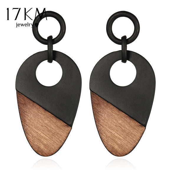 17KM New Fashion Geometry Wood Women's Earrings Long Chain Bohemian Handmade Drop Earring Gift Vintage Jewelry - The Rogue's Clothes