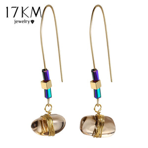 17KM Bohemian Big Stone Drop Earring For Women Vintage Statement Long Earrings Pendientes De Piedras Brincos Party Jewelry - The Rogue's Clothes
