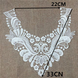 New fashion lace collar bead Wedding Jewelry Choker Necklace Women Embroidered Lace Neckline Collar Embossed Sewing Accessories