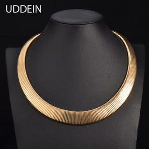 UDDEIN Maxi Gold color choker Autumn fashion jewelry display statement choker necklace for women 2016 New design Vintage Collar