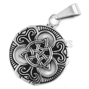Wholesale Claddagh Style Celtic Knot Pendant Stainless Steel Jewelry Fashion Motor Biker Women Pendant SWP0196