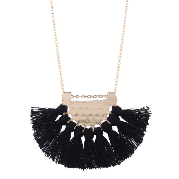 Fashion Bohemian Necklace Women Long Tassel Fringe Dangle Necklace Jewelry