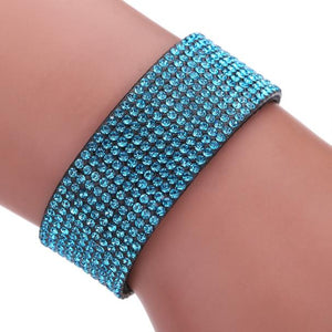 Women Bohemian Crystal Bracelets Wrist Chains Blue
