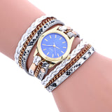 Bohemian Style Fashion Weave Leather Bracelet Lady Womans Wrist Watch - The Rogue's Clothes