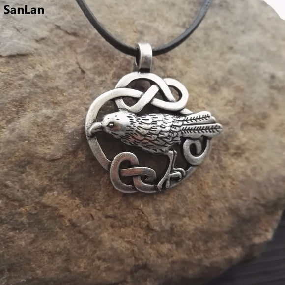 1pcs Celtic Odin's Raven necklace Bird raven  Jewelry viking jewelry SanLan - The Rogue's Clothes