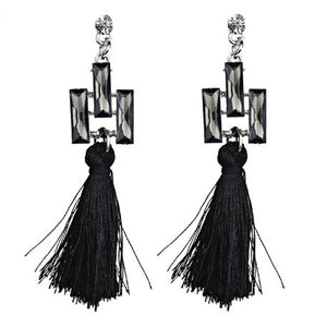 Bohemian Women Ethnic Hanging Rope Tassel Earrings BK - The Rogue's Clothes