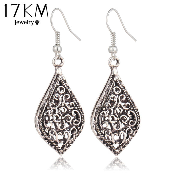 17KM Brand Big Vintage Water Drop Earrings for Women Fashion Kendra Hollow Out Trendy Bohemian female Brincos Boho Earrings - The Rogue's Clothes