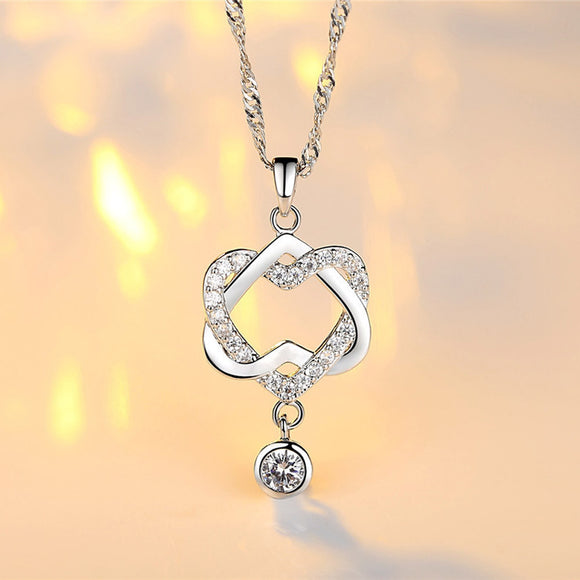 NEW Fashion Women Double Heart Pendant Necklace Chain Jewelry