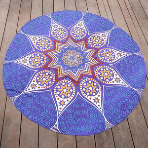 Round Hippie Chiffon Tapestry Beach Throw Towel Yoga Mat Bohemian