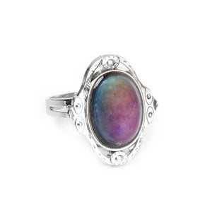 Gypsy Boho Adjustable Oval Changing Mood Ring Finger Ring