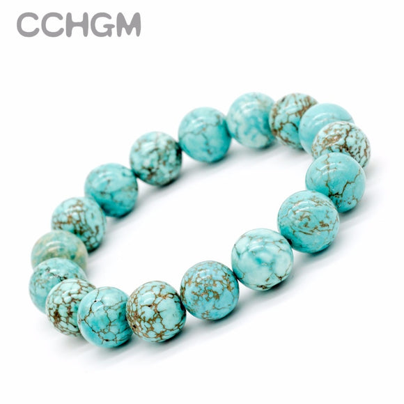 2017 New Natural Turquoises stone beads bracelets for women round beads bracelet jewelry with pendant vintage jewelry Bracelets - The Rogue's Clothes