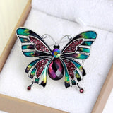 Vintage Jewelry Large Enamel Butterfly Brooches Brooch Wedding Brooch Insect Hijab Pin Brooches For Women And Girl
