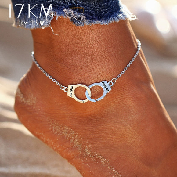 17KM Silver Color Fashion DIY Anklets for Women Girl Bohemian Friendship Anklet Handmade Bracelet Barefoot Party Jewelry Gift - The Rogue's Clothes