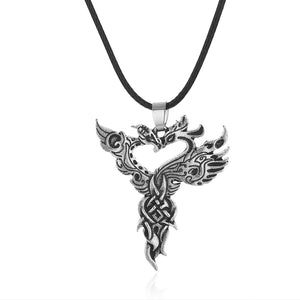 1pcs Chinese Dragon Phoenix Pendant Celtics Bird Necklace Ancient Viking Necklace Spirit Jewelry CT733 - The Rogue's Clothes