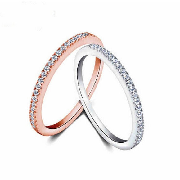 Micro Pave Zircon Ring Fine Fashion Jewelry Circle Diamond Tail Ring