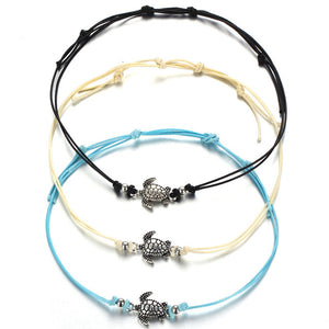 17KM Vintage Multiple Layers Turtle Bracelets For Woman Girl Bohemian Animal Bracelet Bangle Set Beach Jewelry Drop shipping - The Rogue's Clothes