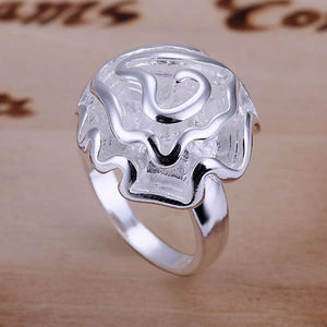 Rings 925 Fashion Jewelry gift rings for women men best selling wholesale free shipping silver rose flower rings GY-AR286