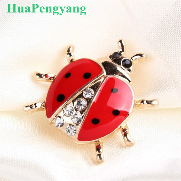 High-grade handmade oil insect brooch fashion animal brooch rhinestone female jewelry ladybug brooch