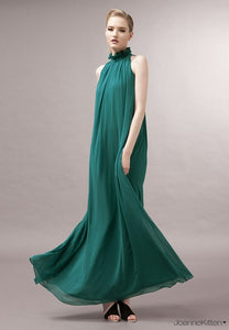 Nine-color bohemian Loose large size fashion long dresses halter collar chiffon dress