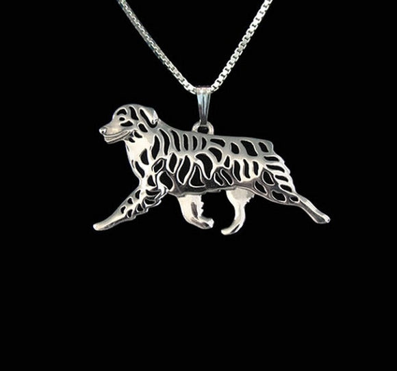 Australian Shepherd movement necklace dog pendant jewelry Silver/gold colors plated