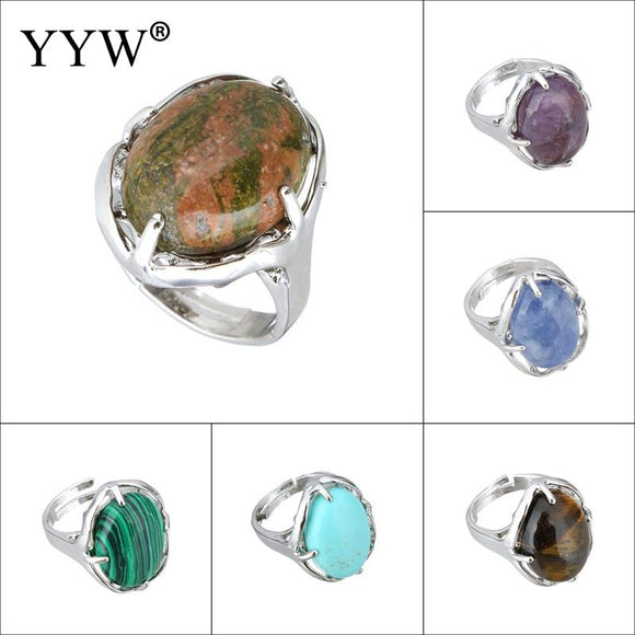 Vintage Antique Natural Stone Ring Fashion Jewelry Blue turquoises Sea Opal Finger Ring For Women Wedding Anniversary Rings 7