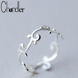 Chandler silver  Branch Leaves Knuckle Toe Rings For Women Adjustable Wedding Band Rattan Tree Geometrical Jewelry - The Rogue's Clothes