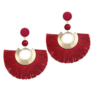 17KM 2018 Fashion Tassel Earrings For Women Bohemian Retro Sequin Party Blue Red Green Earrings Statement Female Brincos Jewelry - The Rogue's Clothes