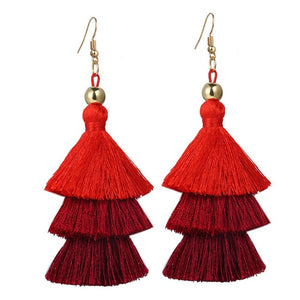 17KM Bohemian Multilayer Tassel Earrings Hook For Women Colorful Oversize Statement Earring Dangle Fashion Jewelry 2018 New - The Rogue's Clothes