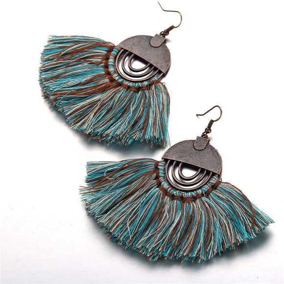17KM Vintage Hollow Out Round Tassel Earrings For Women Bohemian Dangle Earring Handmade Female Statement Brincos Jewelry 2018 - The Rogue's Clothes
