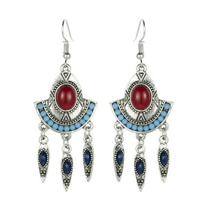 Bohemia Earings Fashion Jewelry Leaves Tassel Earrings Long Earring for Women - The Rogue's Clothes