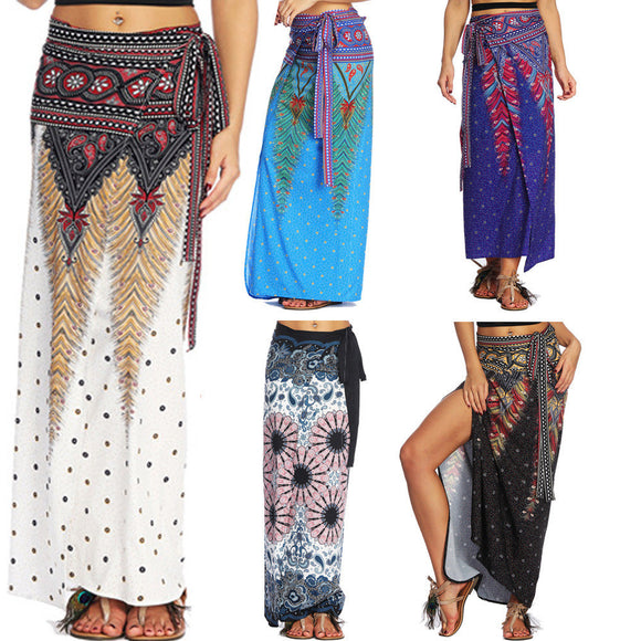 Women Casual Summer Loose Yoga Trousers Baggy Boho Aladdin Harem Skirt