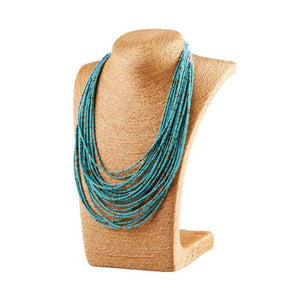 Turquoise Bohemian Bead Necklace