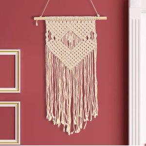 45x105cm Bohemian Macrame Woven Wall Hanging Handmade Tapestry Knitting Decor - The Rogue's Clothes