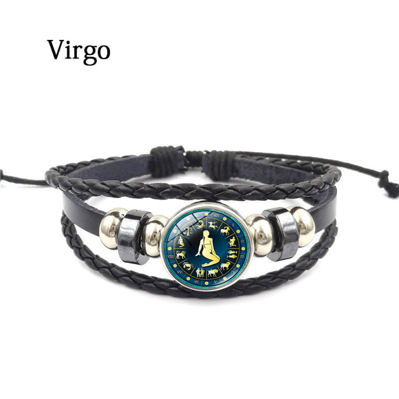 Classic Jewelry Zodiac Bracelets & Bangles Constellation Leather Bracelet - The Rogue's Clothes