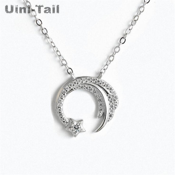 Uini-Tail new original 925 sterling silver slip falling meteor micro-inlaid necklace Meteor Garden fashion trend jewelry GN698