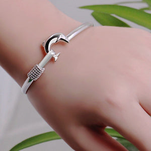 New Women Fashion Jewelry Dolphins filled bangle bracelet