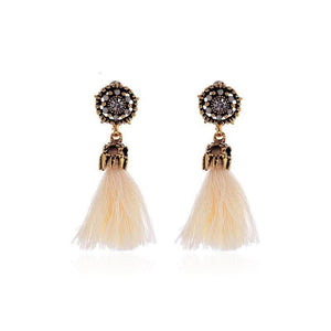 Bohemian Vintage Accessories Long Drop Tassel Earrings - The Rogue's Clothes
