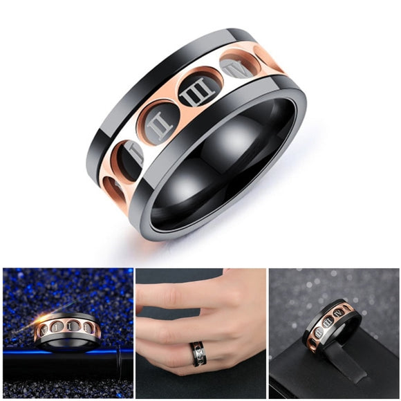 EDC Finger Fidget Spinner Roman Numerals Rotatable Ring Relieving Anxiety Stress-m18